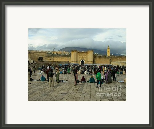 The Market In Fez Framed Print By Sophie Vigneault