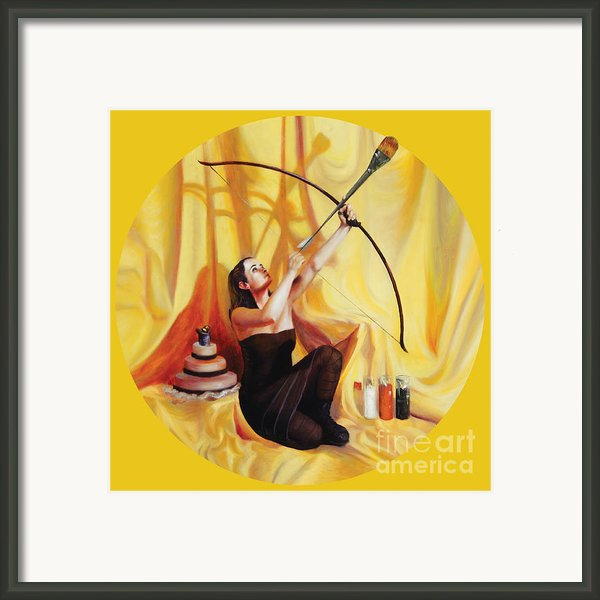 The Markswoman Framed Print By Shelley Irish