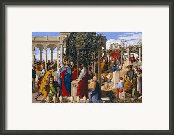 The Marriage At Cana Framed Print By Julius Schnorr Von Carolsfeld