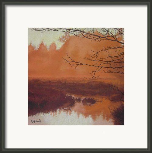The Marsh Before The Sun Breaks Framed Print By Harvey Rogosin
