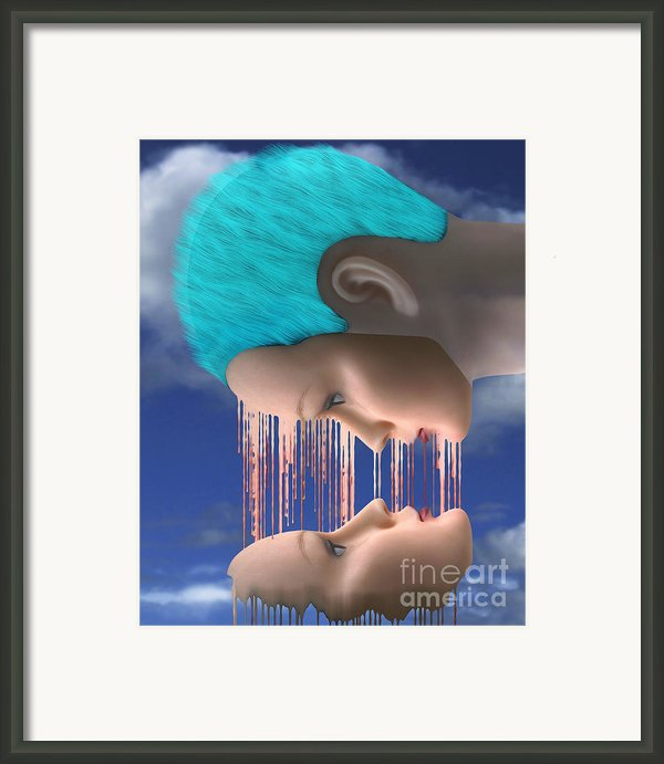 The Melding Framed Print By Keith Dillon