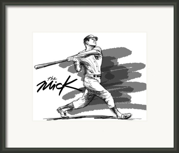 The Mick Framed Print By Ron Regalado