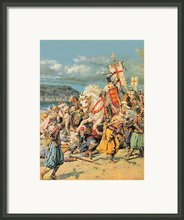 The Mighty King Of Chivalry Richard The Lionheart Framed Print By Fortunino Matania