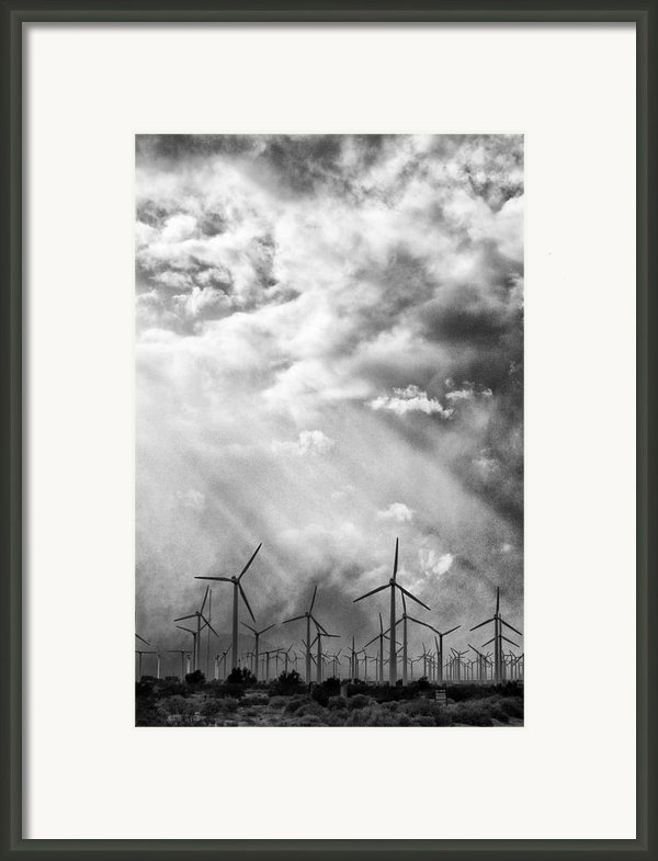 The Mighty Wind Palm Springs Framed Print By William Dey