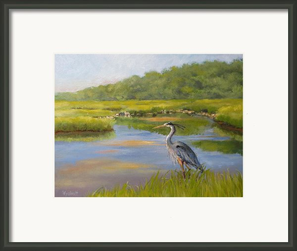 The Millway Marsh Framed Print By Karol Wyckoff
