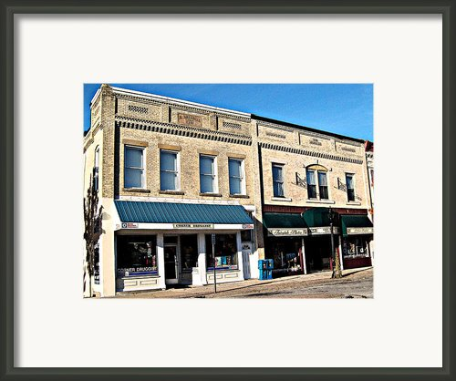 The Mitchell Buildings Framed Print By Mj Olsen
