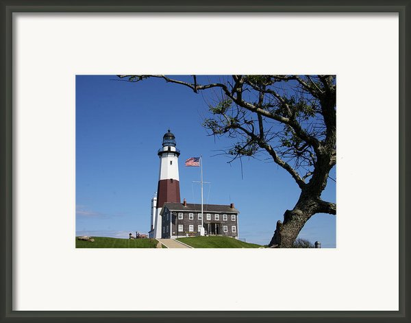 The Montauk Point Lighthouse Framed Print By Christiane Schulze Art And Photography
