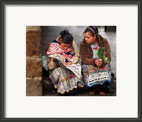 The Morning News Framed Print By Ramon Fernandez