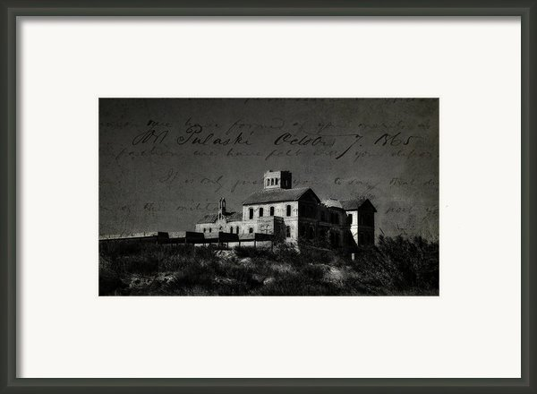 The Most Haunted House In Spain. Casa Encantada. Welcome To The Hell Framed Print By Jenny Rainbow