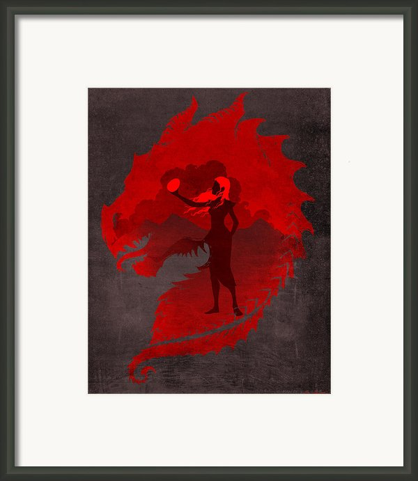 The Mother Of Dragons Framed Print By Christopher Ables