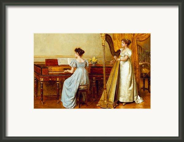 The Music Room Framed Print By George Goodwin Kilburne