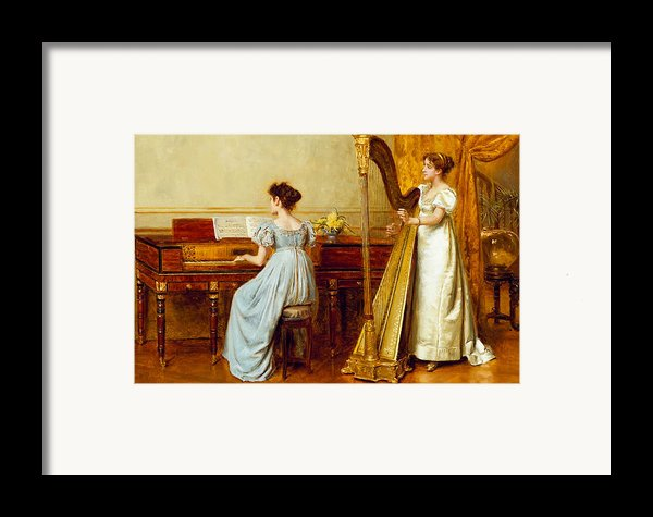 The Music Room Framed Print By George Goodwin Kilburne