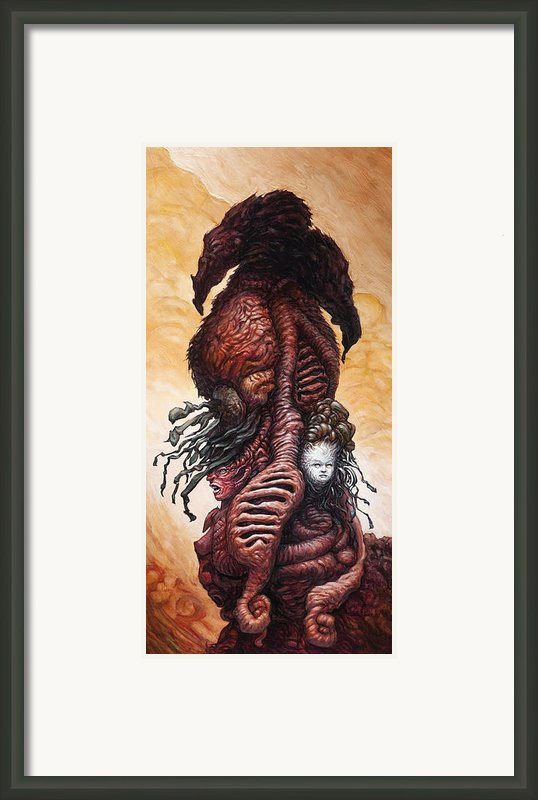 The Mutant Bloom Version 2  Framed Print By Ethan Harris