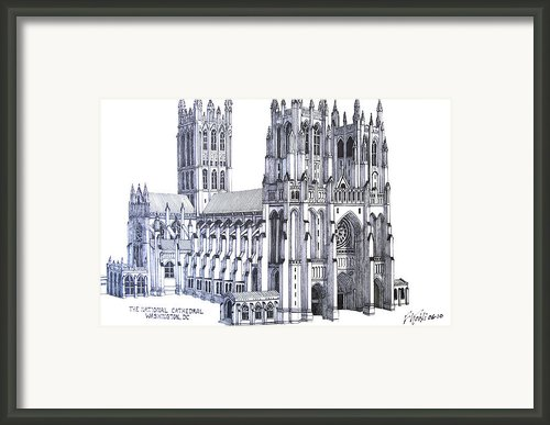 The National Cathedral Framed Print By Frederic Kohli