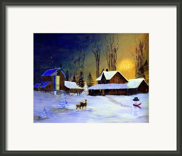 The Night Before Christmas Framed Print By Diane Schuster