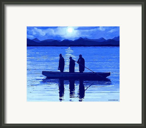 The Night Fishermen Framed Print By Sophiaart Gallery