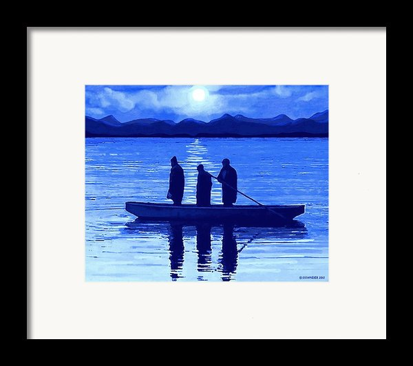 The Night Fishermen Framed Print By Sophiaart Gallery