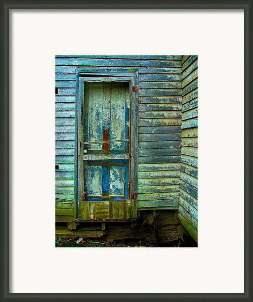 The Old Blue Door Framed Print By Julie Dant