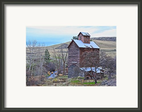 The Old Grain Storage Framed Print By Steve Mckinzie