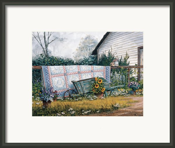The Old Quilt Framed Print By Michael Humphries