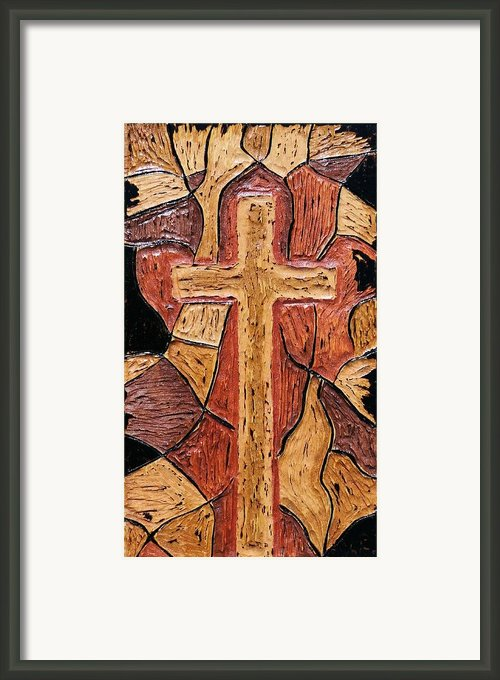 The Old Rugged Cross Framed Print By Lisa Brandel