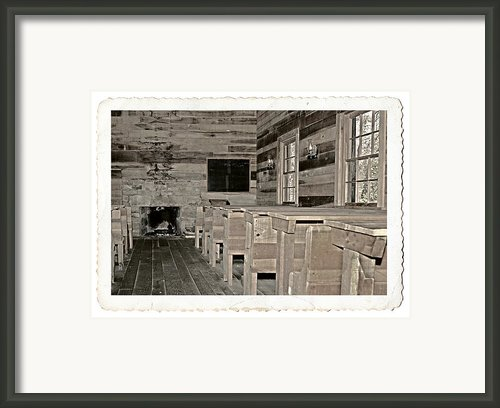 The Old Schoolhouse Framed Print By Susan Leggett