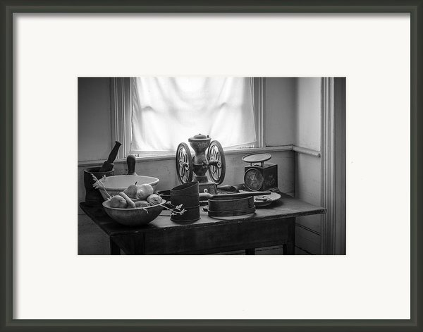 The Old Table By The Window - Wonderful Memories Of The Past - 19th Century Table And Window Framed Print By Gary Heller