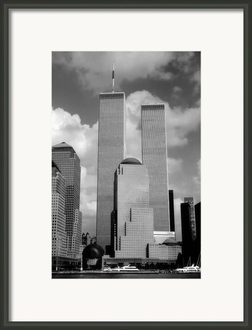 The Old Wtc Framed Print By Joann Vitali