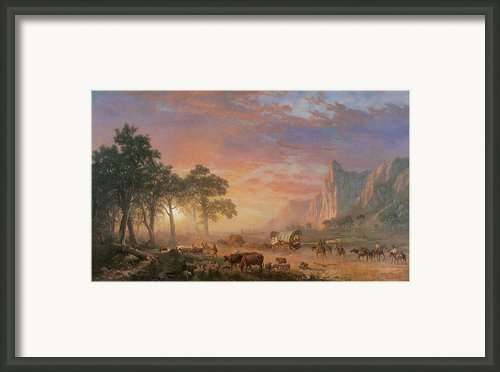 The Oregon Trail Framed Print By Albert Bierstadt