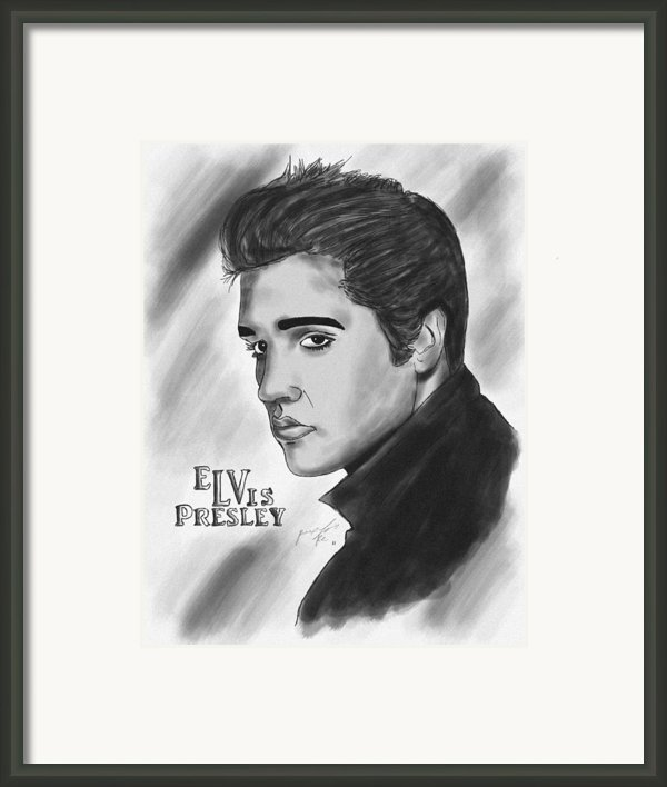 The Original Rockstar Elvis Presley Framed Print By Kenal Louis