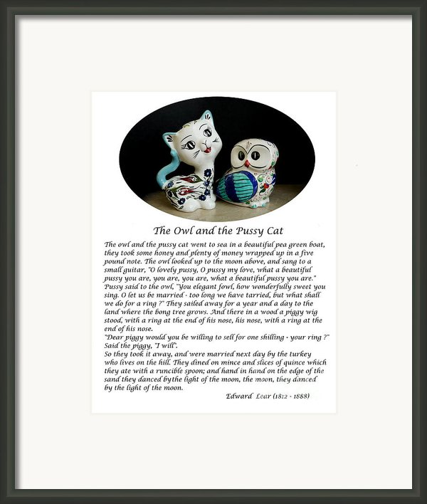 The Owl And The Pussy Cat Framed Print By John Chatterley