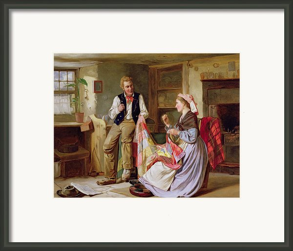 The Patchwork Quilt Framed Print By William Henry Midwood