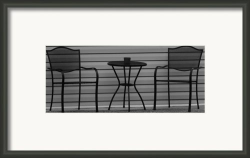 The Patio In Black And White Framed Print By Rob Hans