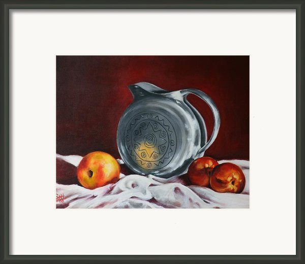 The Pewter Jug Framed Print By Cynthia House