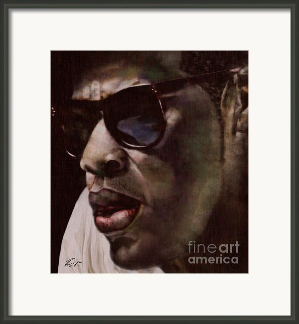 The Pied Piper Of Intrigue - Jay Z Framed Print By Reggie Duffie