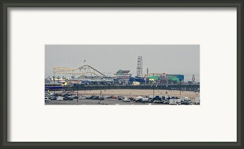 The Pier In The Haze Framed Print By Ike Krieger