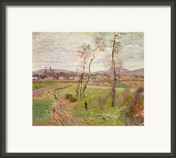 The Plain At Gennevilliers Framed Print By Claude Monet
