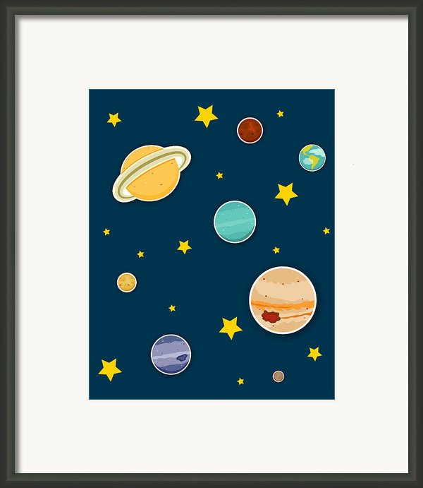 The Planets  Framed Print By Christy Beckwith