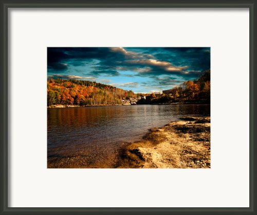 The Pool Below Upper Falls Rumford Maine Framed Print By Bob Orsillo