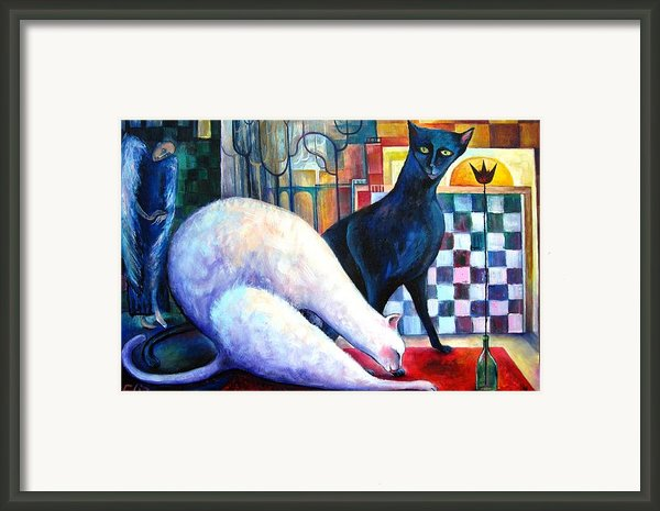 The Queen And The Knight. Chess Of Love  Framed Print By Elisheva Nesis