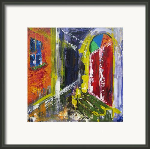 The Red Door Framed Print By Khalid Alzayani
