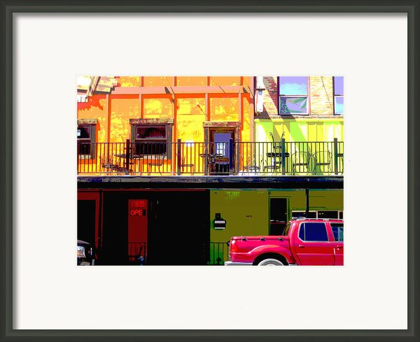 The Red Truck Framed Print By Ann Powell