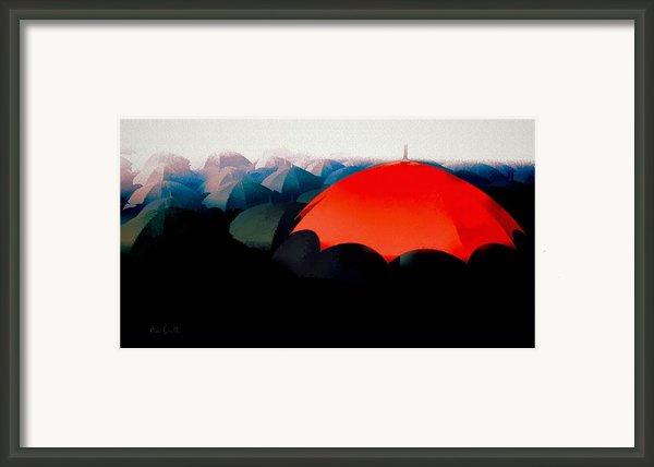The Red Umbrella Framed Print By Bob Orsillo