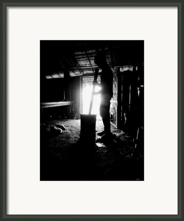 The Religion Of Food Framed Print By Carl Rolfe