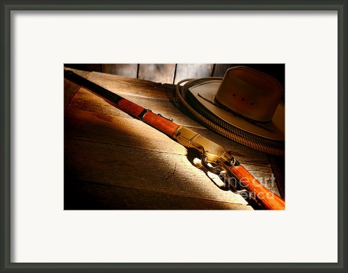 The Rifle Framed Print By Olivier Le Queinec