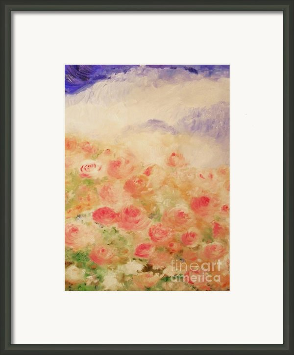 The Rose Bush Framed Print By Laurie D Lundquist