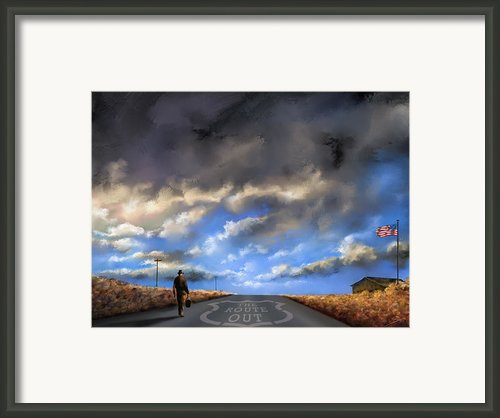 The Route Out Framed Print By Susi Galloway