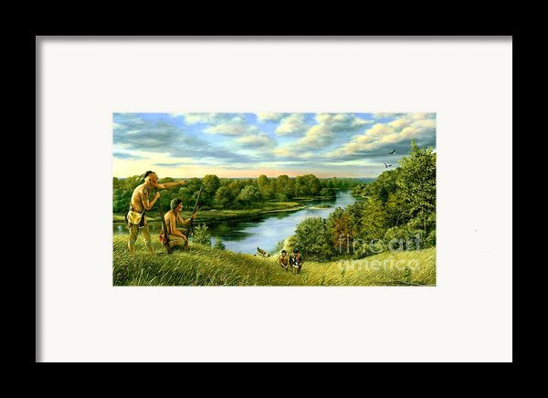 The Scouting Party Framed Print By Michael Swanson
