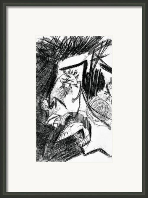 The Scream - Picasso Study Framed Print By Michelle Calkins