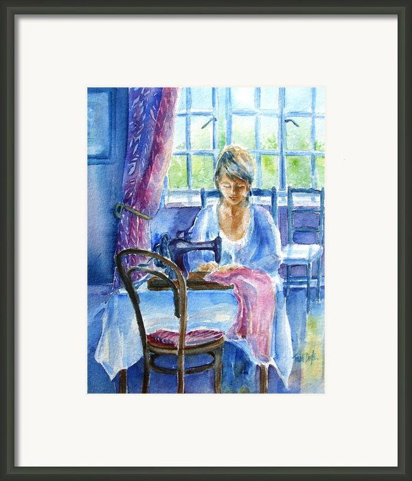 The Seamstress Framed Print By Trudi Doyle